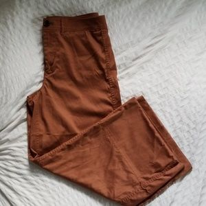 Madewell wide leg crop rust colored pants